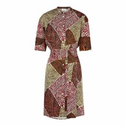 BY MALENE BIRGER Cebina Printed Satin Shirt Dress