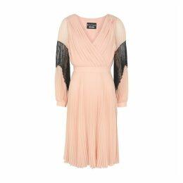 Boutique Moschino Blush Pleated Chiffon Dress