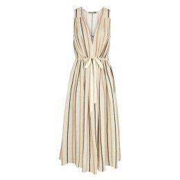 Three Graces Solaine Striped Gauze Midi Dress