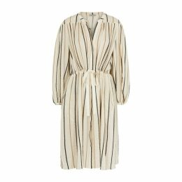 Three Graces Julienne Striped Gauze Midi Dress