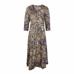 'S Max Mara Lacca Floral-print Cotton Midi Dress