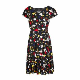 Boutique Moschino Black Club-print Dress