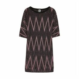 M Missoni Zigzag Metallic-knit Mini Dress