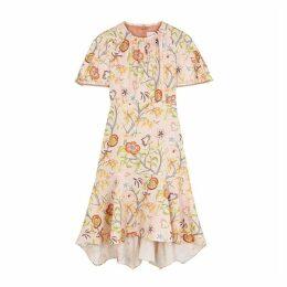 Peter Pilotto Floral-print Cloque Satin Dress