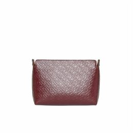 Burberry Medium Monogram Leather Clutch