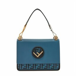 Fendi Kan I F Logo-embossed Leather Shoulder Bag