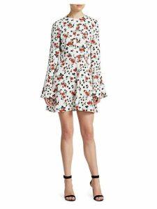 Trixie Silk Print Mini Dress