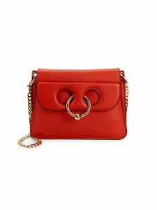 Ring Leather Shoulder Bag