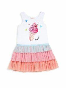 Little Girl's Ice Cream Ruffle Dress