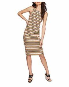 1.state Sleeveless Striped Back-Cutout Dress