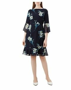 Hobbs London Adriana Bell-Sleeve Dress