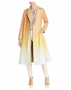 Lafayette 148 New York Avrielle Ombre Leather Trench Coat