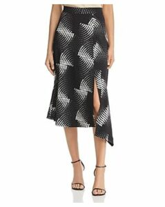 Kenneth Cole Asymmetric Dot-Print Midi Skirt