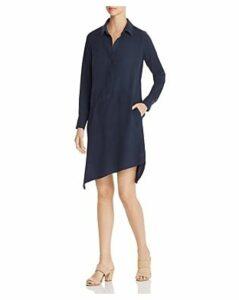 Go by Go Silk Asymmetric-Hem Shirt Dress