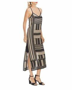 Vince Camuto Geo-Print Midi Slip Dress