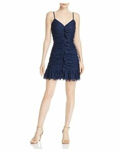 Aqua Ruched Lace Dress - 100% Exclusive