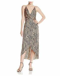Aqua Twist-Front Zebra Print Dress - 100% Exclusive