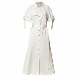 HATHAIRAT - Black Brocade Rose Drape Skirt
