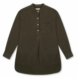 HATHAIRAT - Blue Brocade Rose Drape Skirt