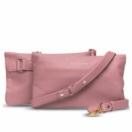 Holly & Tanager - Companion Mini Leather Crossbody Clutch In Pink