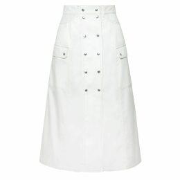 Vivienne Hu - Denim Trench Coat With Trim & Fringe