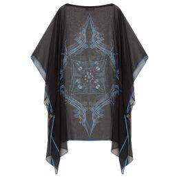 GISY - Vietnam Mandala Black Silk Kaftan No.5