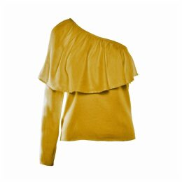 IMAIMA - Ziba One-Shoulder Blouse In Yellow
