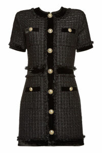 Balmain Tweed Dress with Cotton