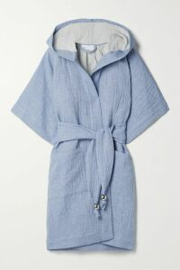 Nanushka - Moun Belted Frayed Woven Midi Dress - Taupe