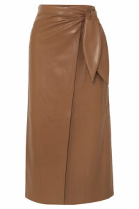 Nanushka - Amas Vegan Leather Wrap Skirt - Brown