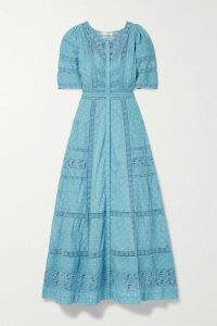 Tory Burch - Striped Cotton-poplin Wrap Dress - Blue