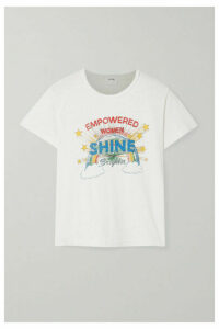 RE/DONE - Shine Printed Cotton-jersey T-shirt - White