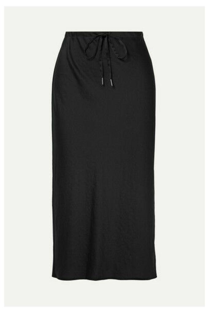 alexanderwang.t - Crinkled-satin Midi Skirt - Black