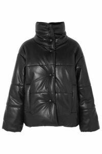 Nanushka - Hide Quilted Vegan Leather Jacket - Black