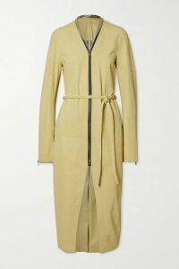 Zimmermann - Verity Roulou Belted Floral-print Linen Dress - Sky blue