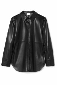 Nanushka - Naum Vegan Leather Shirt - Black