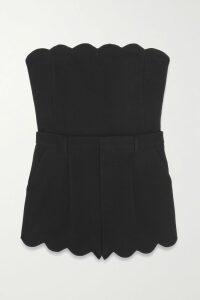 Isabel Marant - Doleyli Draped Checked Cotton-blend Mini Skirt - Dark gray