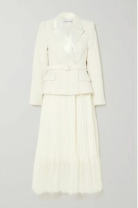Dolce & Gabbana - Ruched Floral-print Cotton-tulle Midi Dress - Red