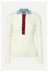 Missoni - Ribbed Wool Polo Shirt - Ivory