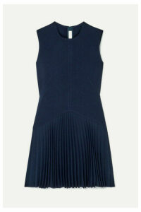 Dion Lee - Annex Pleated Bonded Stretch-crepe Mini Dress - Navy