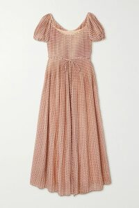 Valentino - Tiered Leather Dress - Black