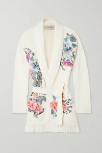Marchesa Notte - Embroidered Guipure Lace Gown - Navy