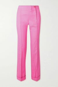 Les Rêveries - Tie-front Ruffled Floral-print Silk-satin Mini Dress - White