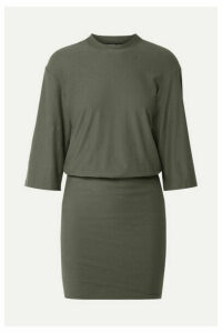 James Perse - Stretch-cotton Jersey Mini Dress - Army green