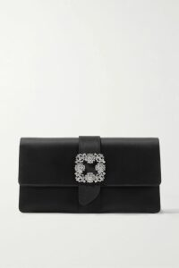 Isabel Marant Étoile - Ayeni Gathered Leather Wrap Skirt - Black