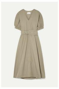 3.1 Phillip Lim - Belted Cotton-blend Poplin Midi Dress - Sand