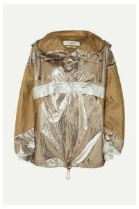 Isabel Marant Étoile - Kizzy Paneled Metallic Shell Hooded Jacket - Army green