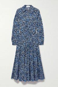 SAINT LAURENT - Printed Leather Biker Jacket - Black