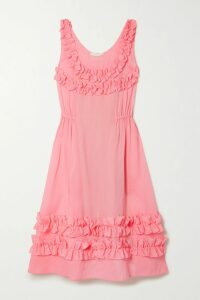 Philosophy di Lorenzo Serafini - Velvet-trimmed Lace Midi Skirt - Black