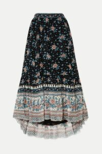 Ulla Johnson - Marina Floral-print Fil Coupé Silk-blend Chiffon Midi Skirt - Navy